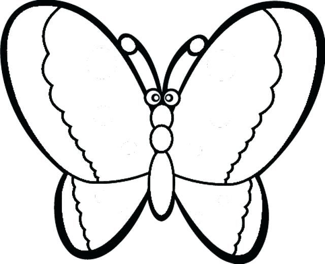 Easy Coloring Sheets For Preschoolers Pages Toddlers To Color Simple And Free Toddler Butterfly Coloring Page Geometric Coloring Pages Super Coloring Pages