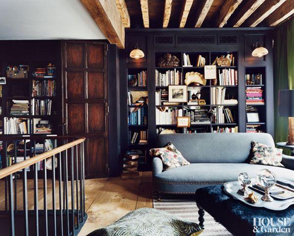 Interiors To Inspire Urban Rustic In Manhattan Coco Kelley Dark Living Rooms Cozy Cottage Interiors Cottage Interiors