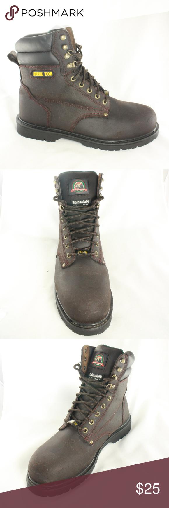 e2255c69926 NEW BRAHMA IRON TOUGH Espresso Steel Toe Work Boot Super clean all ...