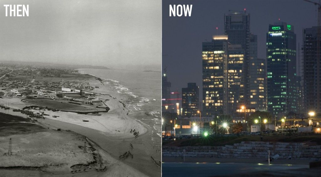 Then & Now images of the city of Tel Aviv (Photo: Ezra Adventures)