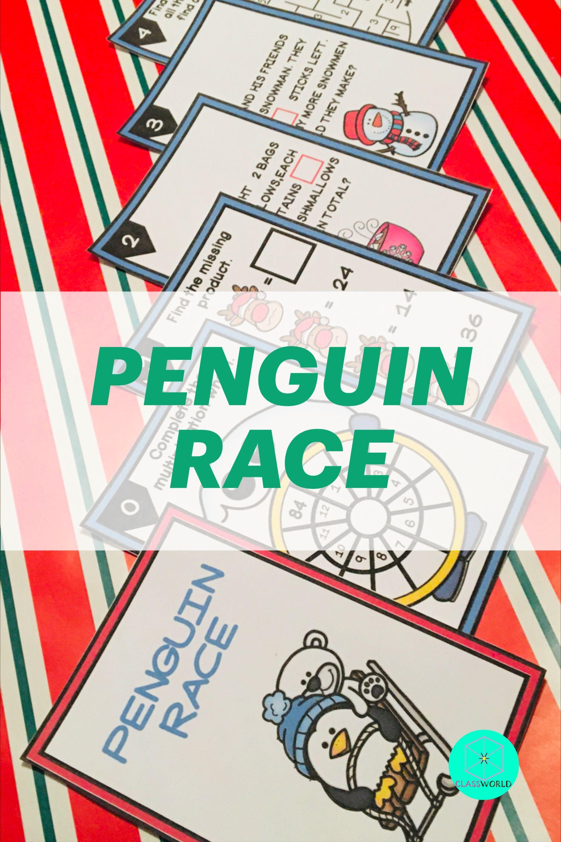 Ath Fun Activity 3rd Grade Math Game Penguin Race Game