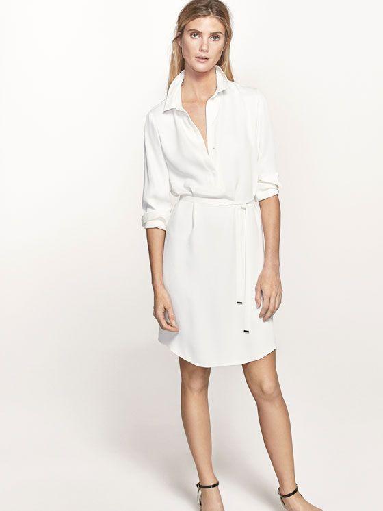9295e3993e0 Autumn Spring summer 2017 Women´s SHIRT DRESS WITH BELT DETAIL at Massimo  Dutti for 120. Effortless elegance!