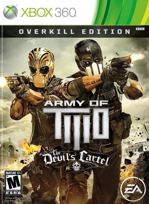 Army Of Two The Devils Cartel Xbox 360 Game Army Of Two Xbox