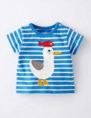 T-Shirt mit Strandmotiv #toddlershorts
