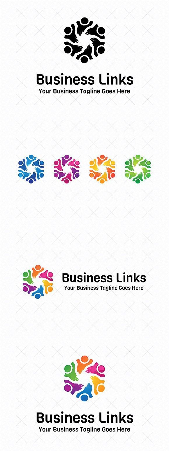 business links logo template network design pinterest logo
