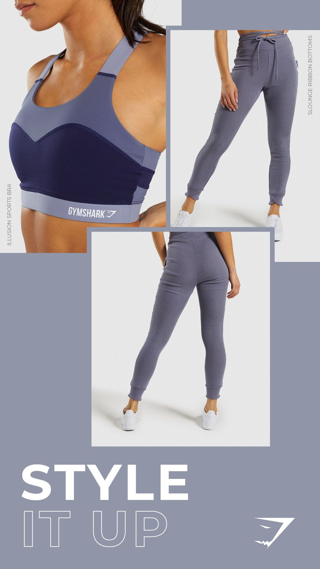 Style it up with this this blue look. Mix the Illusion Sports Bra with the  Slounge Ribbon Bottoms.  Gymshark  Gym  Sweat  Train  Perform  Seamless   Exercise ... 1c73dc38e92a1