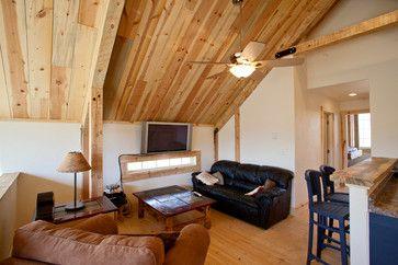 Living in a Barn Loft | Loft Living in Colorado rustic living room