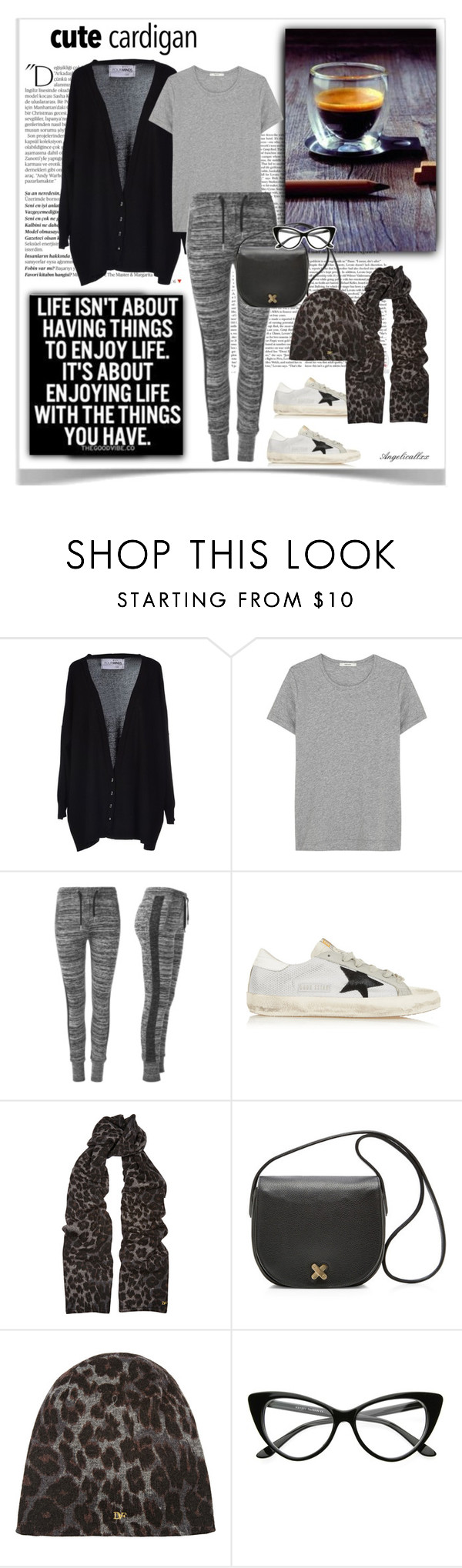 """""""Coffee is so simple and so good"""" by angelicallxx ❤ liked on Polyvore featuring Balmain, FourMinds, ADAM, Golden Goose, Diane Von Furstenberg, Alexander Wang and mycardi"""
