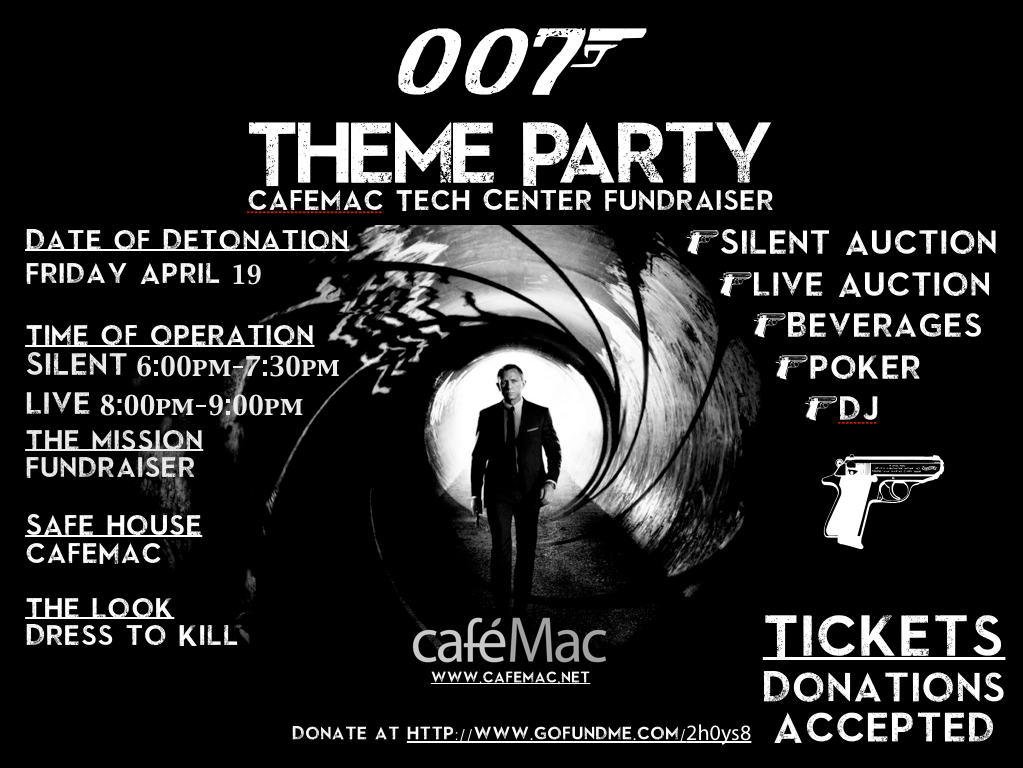 007 Fundraiser Party Theme The look Dressed to Kill – 007 Party Invitations