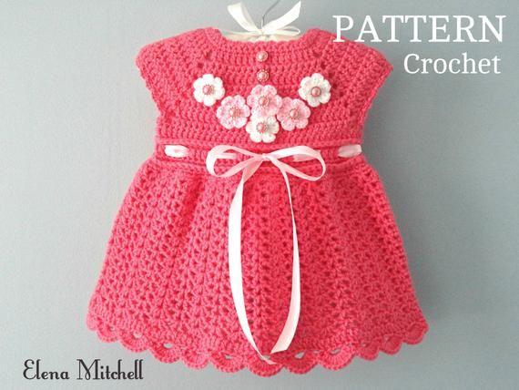 Photo of Crochet PATTERN Baby Dress Baby Girl Pattern Crochet Newborn Outfit Infant Dress Pattern Baby Girl Clothes Crochet Baby Dress PATTERN PDF