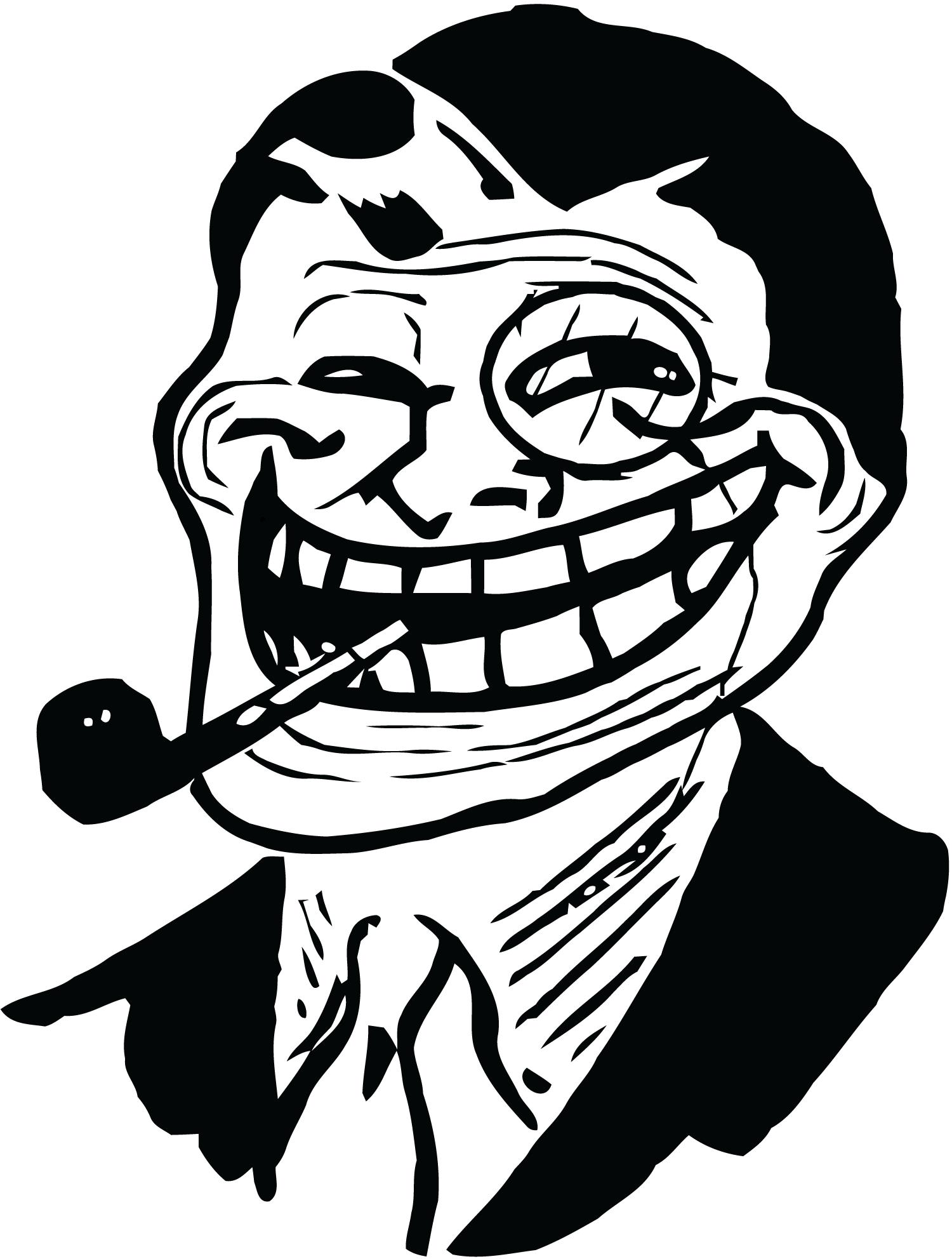 LOL U Mad Trollface Meme Face Troll Cool Internet Angry Blog Post Men/'s T-Shirt