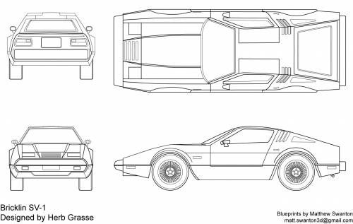 Bricklin sv 1 blueprints pinterest cars and vehicle blueprints cars various cars bricklin malvernweather Images