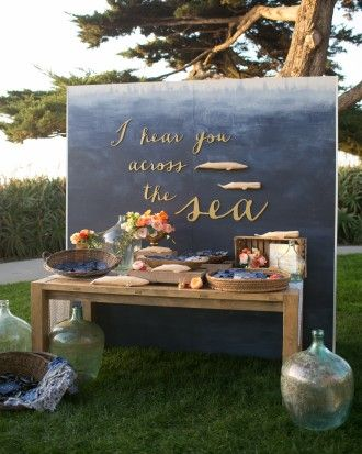 """See the """"The Escort Card Display"""" in our Jess and Clint's Coastal California Wedding gallery"""