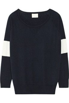 Band of Outsiders Merino wool and cotton-blend sweater | NET-A-PORTER