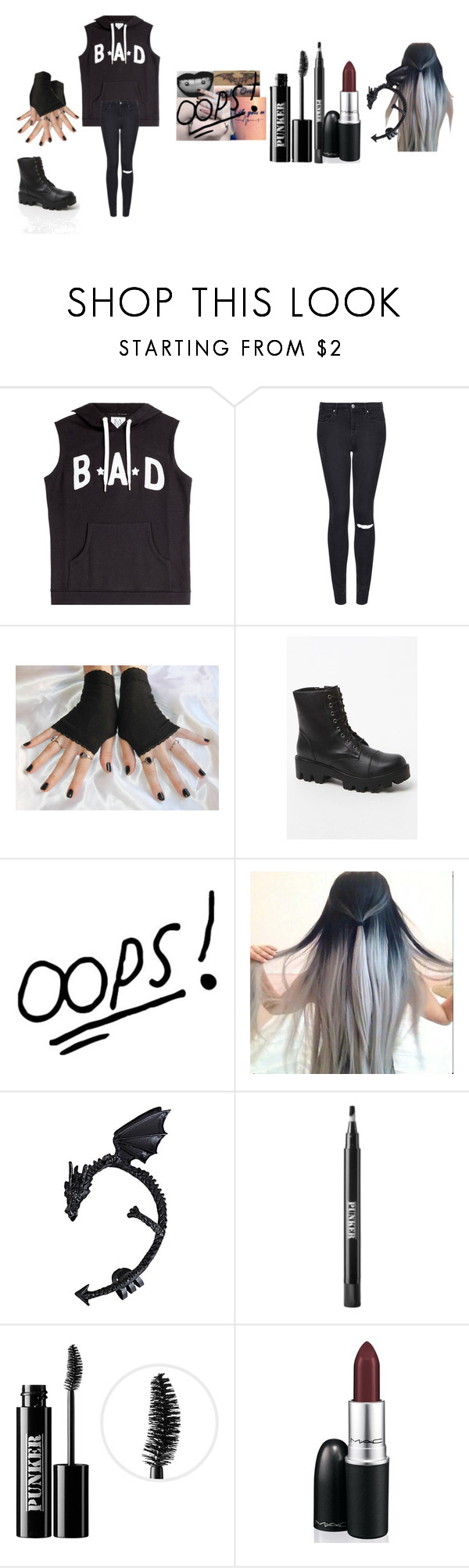 """""""Punk"""" by mc217008 ❤ liked on Polyvore featuring Zoe Karssen, Topshop, MIA and Ardency Inn"""