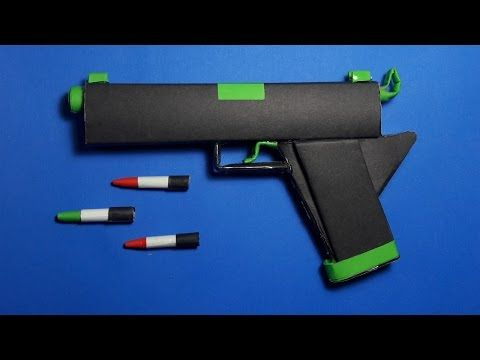 Diy How To Make A Paper Radiation Gun That Shoots Paper Bullets