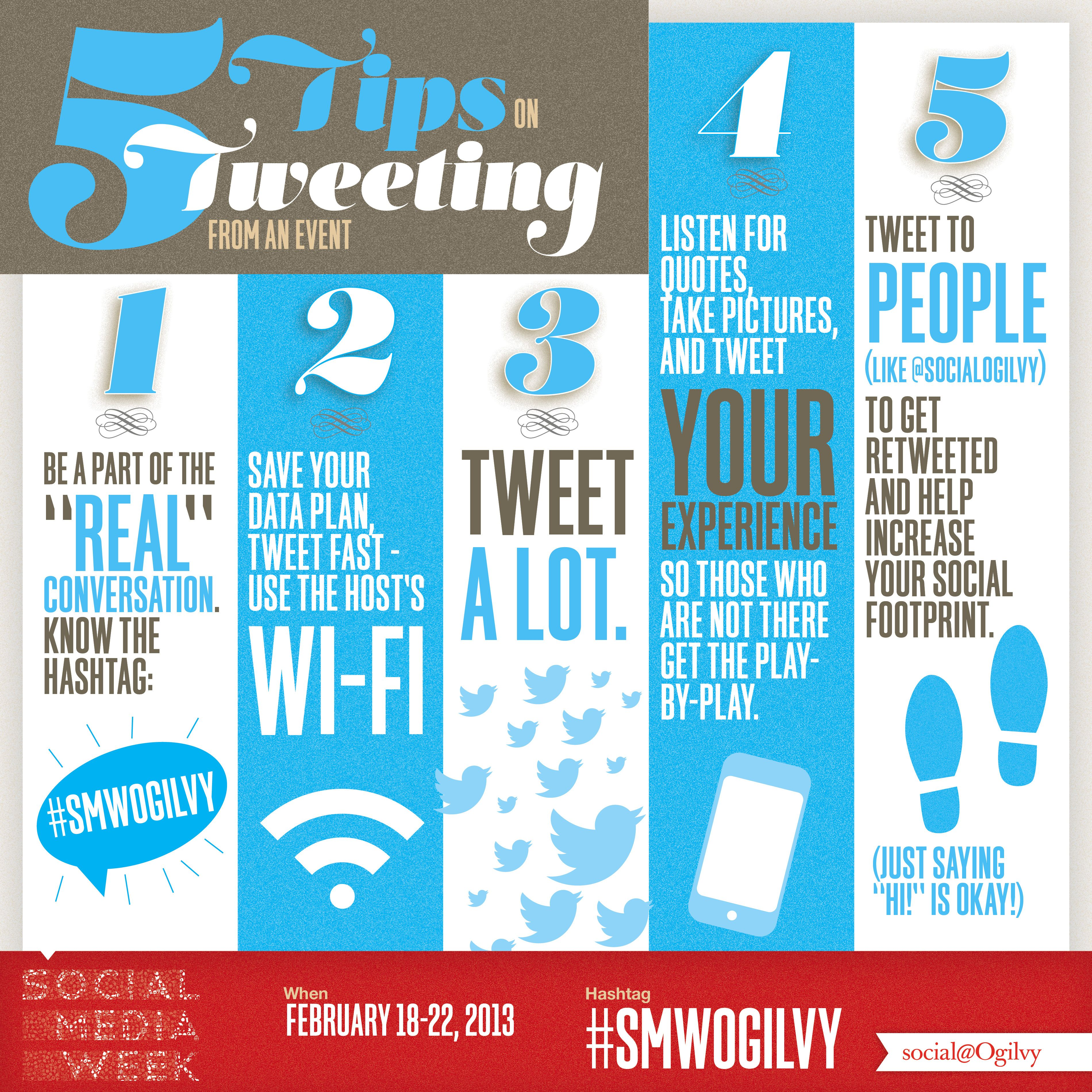 5 Quick Tips On Tweeting From An Event Via Social Ogilvy Social