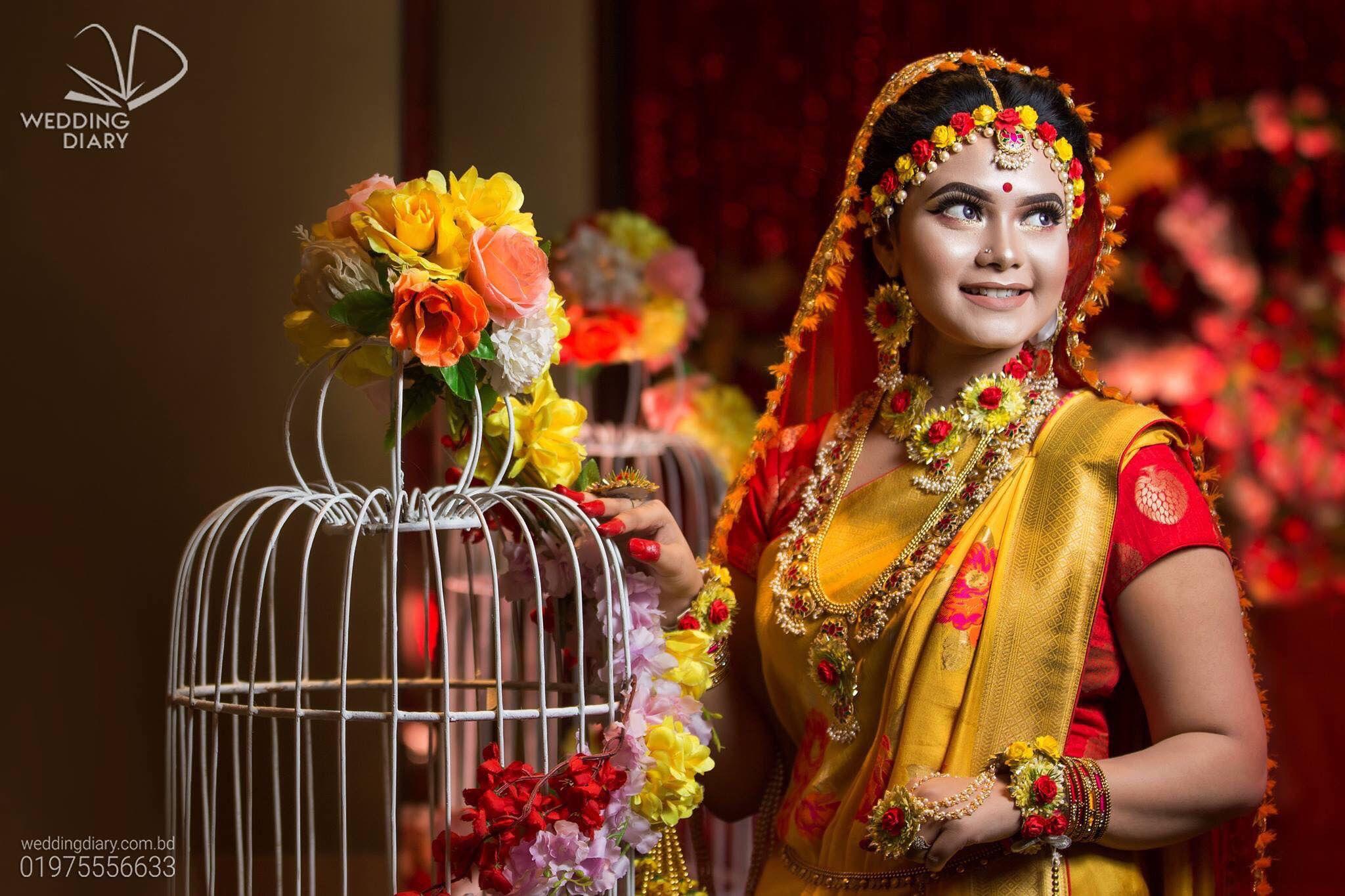 bangladeshi pakistani indian gujarati marathi flower jewelry set gaye holud jewelry Indian bollywood wedding bridal  flower jewelry set