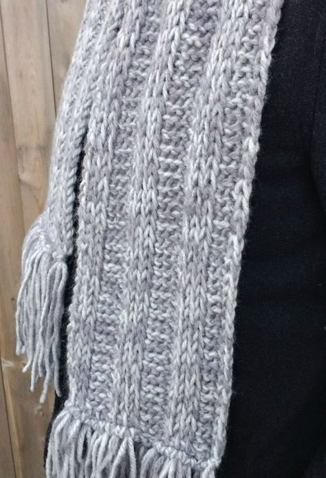 Easy Tunisian Crochet Ribbed Scarf Pattern Haken Pinterest