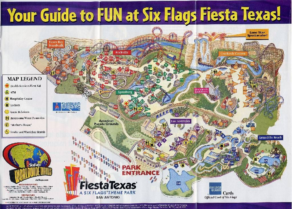 san antonio six flags map Pin By Alex Vining On Editorial Layouts Six Flags Fiesta Texas san antonio six flags map