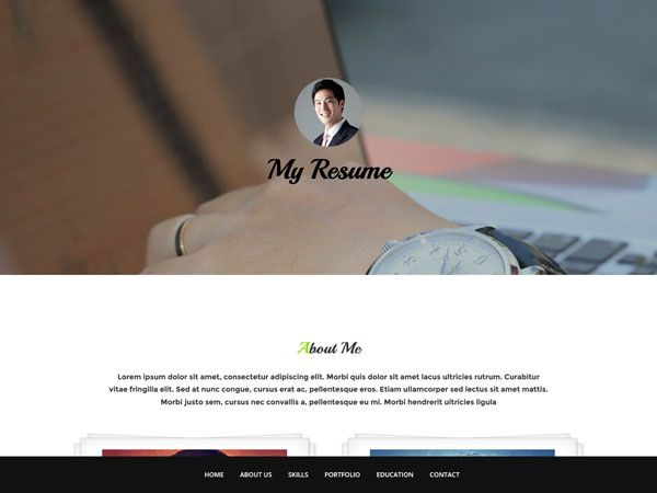 My Resume Template Free Personal vCard \ Resume HTML Templates - my resume template