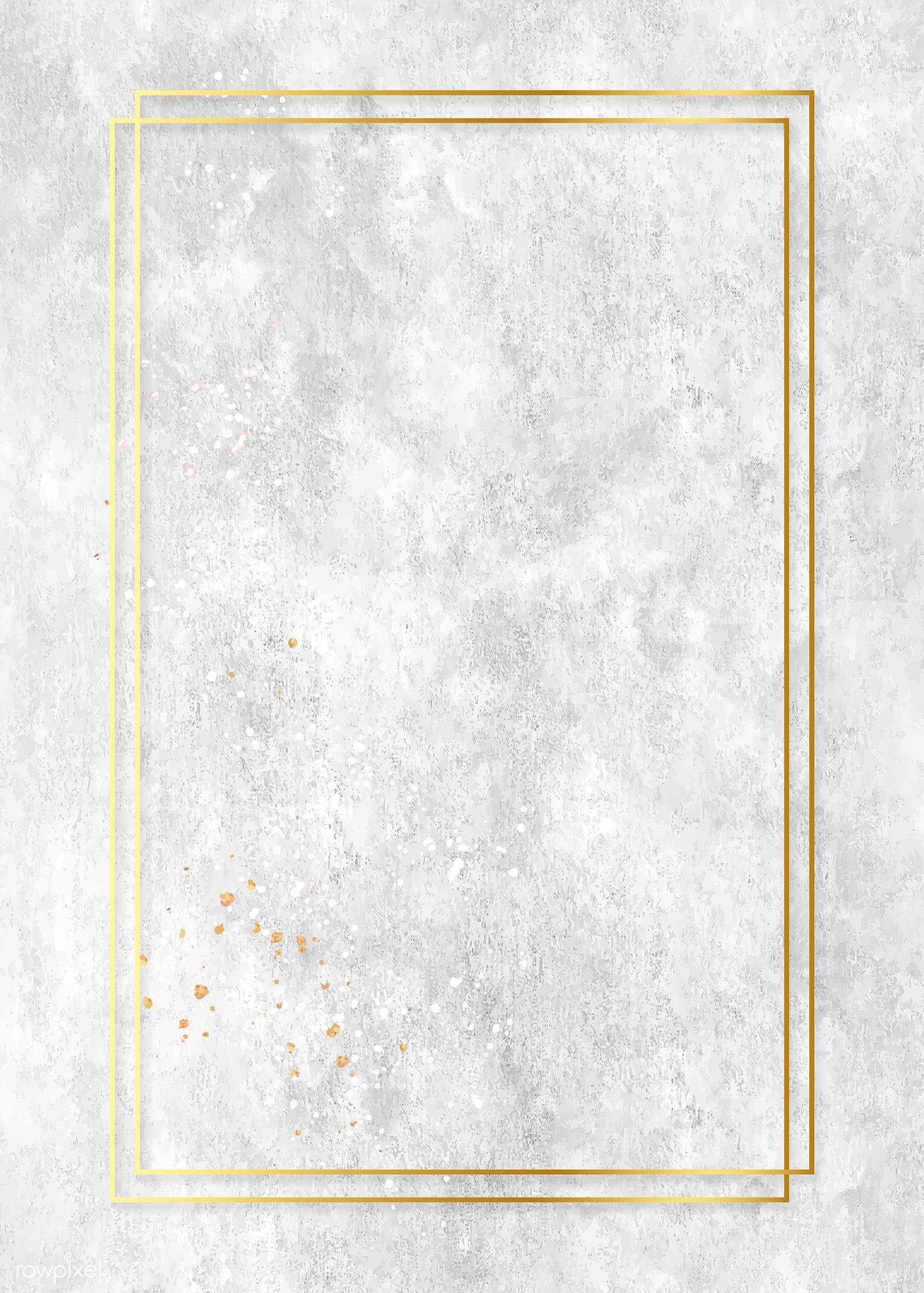 Download Premium Vector Of Rectangle Gold Frame On Gray Oil Paint