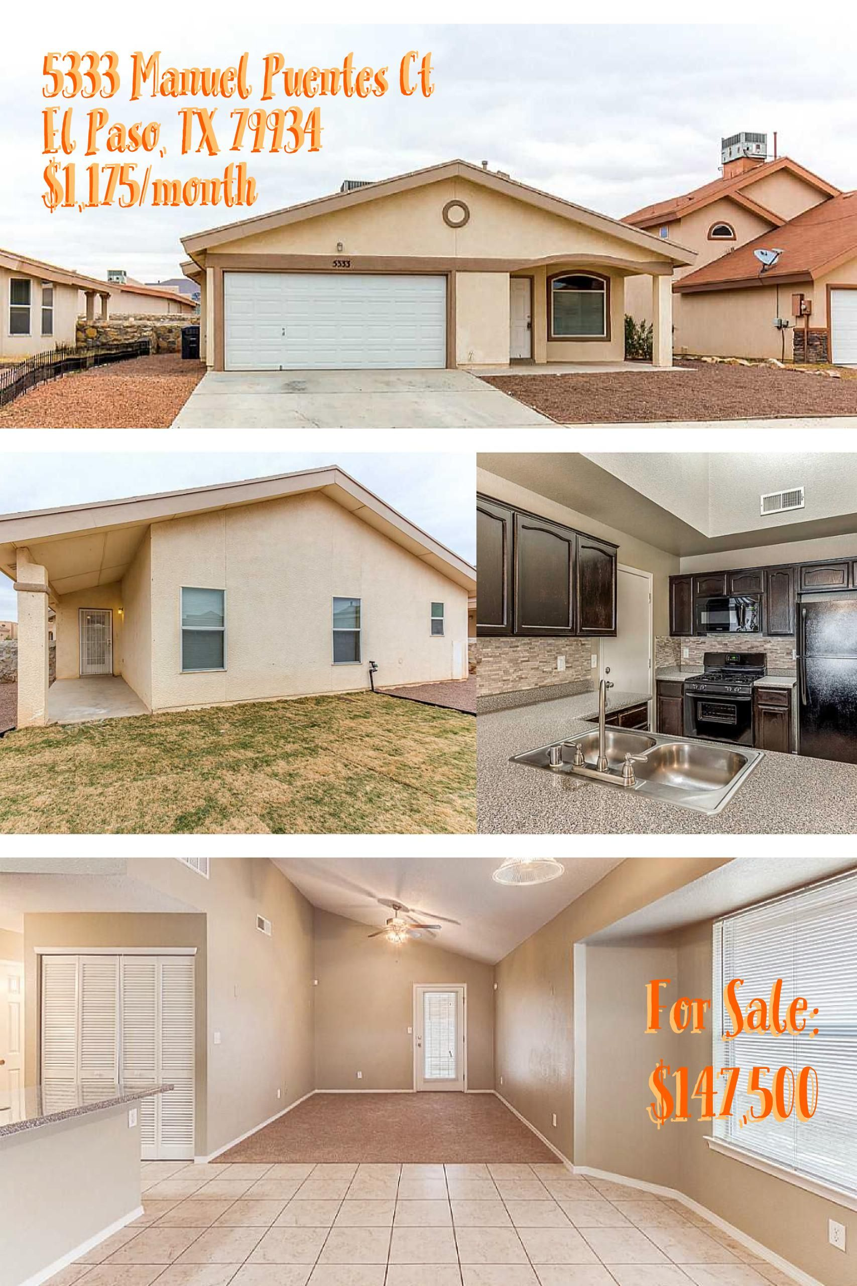 Home For Rent Lease W Option To Purchase And For Sale Stylish Northeast Home W Refrigerated Air Just Minutes Ft Fort Bliss Housing Renting A House Realty