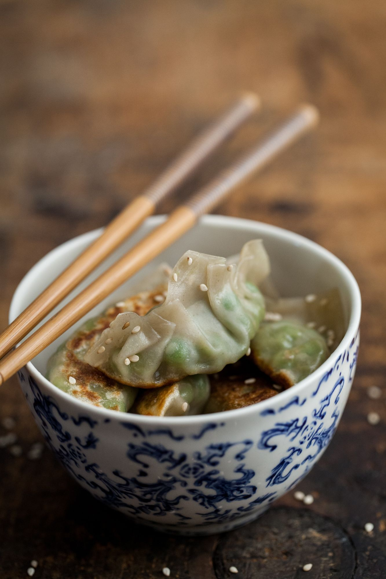 Light & Easy Weeknight Meals: Smashed Pea and Ginger Potstickers
