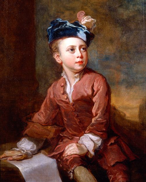 Bartholomew Dandridge. Portrait of a Young Boy in a Feathered Hat, 1735.