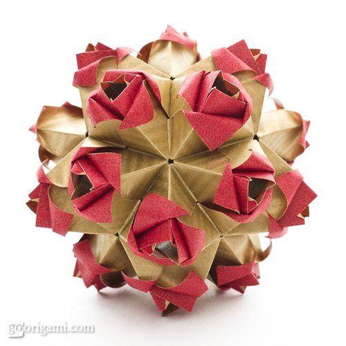 lisadeng:    origami Little Roses!  Click for Tutorial Link