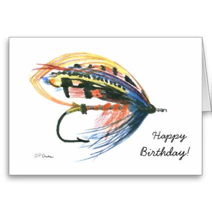 Colorful Fly Fishing Birthday Card Say Just What You Want With This Unique Fly Fishing Themed Happ Fishing Birthday Cards Fly Fishing Tattoo Fishing Birthday