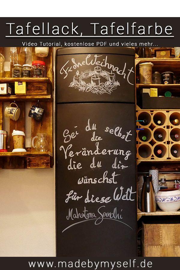 kuhle dekoration kucheneinrichtung munchen, tafelfarbe - kühlschrank mit tafellack streichen   madebymyself diy, Innenarchitektur