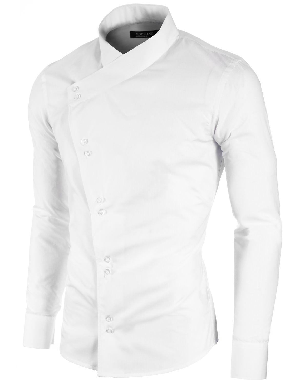 Mens button-down shirt dark gray (MOD1430LS) | Casual shirts