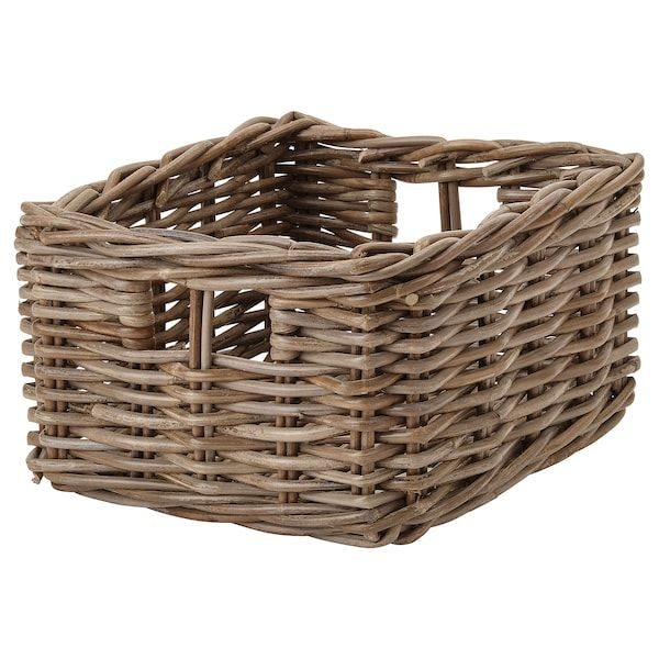 Ikea Byholma Gray Basket In 2020 Basket Ikea Storage Baskets