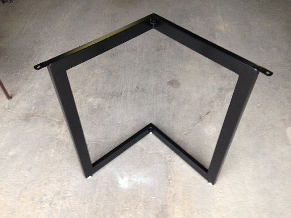 Chevron Metal Dining Table Base Legs by CarolinaCustomIron on Etsy