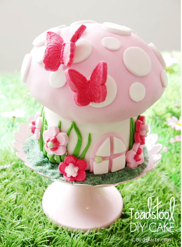 How to Make a Toadstool Birthday Cake Fairy birthday party Fairy