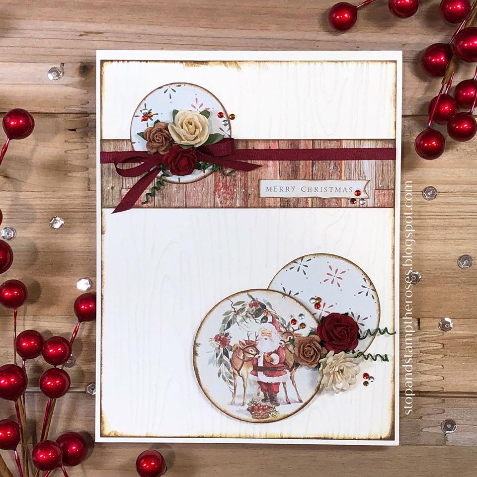 Vintage Feel Christmas Card Using Prima