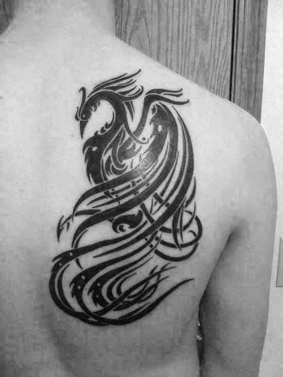 40 tribal phoenix tattoo designs for men mythology ink. Black Bedroom Furniture Sets. Home Design Ideas