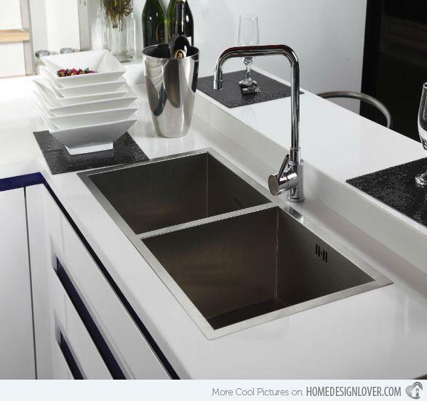 Functional Double Basin Kitchen Sink Modern