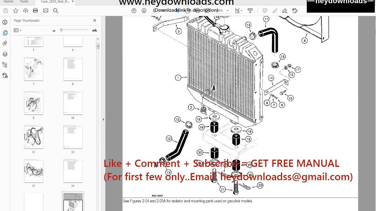 Case 1825 Skid Steer Loader Parts Catalog Manual Parts Catalog Manual Skid Steer Loader