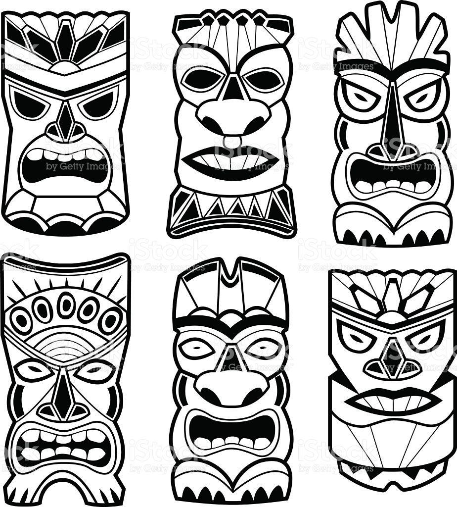 Coloriage masque pour anniversaire tahitien - Coloriage tahiti ...