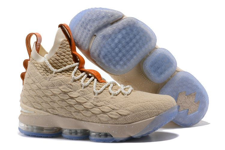 a7af8b1f319 2018 Nike LeBron 15 Ghost XV EP Mens Original BasketBall Shoe Wheat Orange  Blue