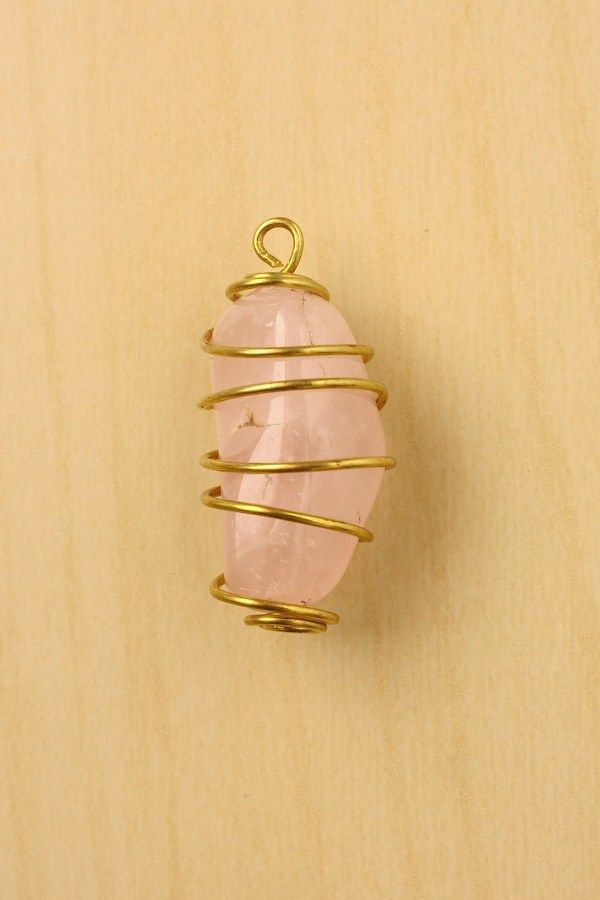 How to Wire Wrap a Stone - Spiral Cage Method More   DIY crafts ...