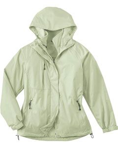 The Ash City - North End LADIES' 3-IN-1 TECHNO PERFORMANCETM SEAM-SEALED HOODED JACKET is available in Sizes XS-3XL. It can be purchased in your choice of the following color: Celery.