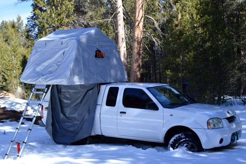 Tent Top It Get Out Of The Dirt Roof Top Tent From Top Tent Top Tents Roof Top Tent Winter Camping