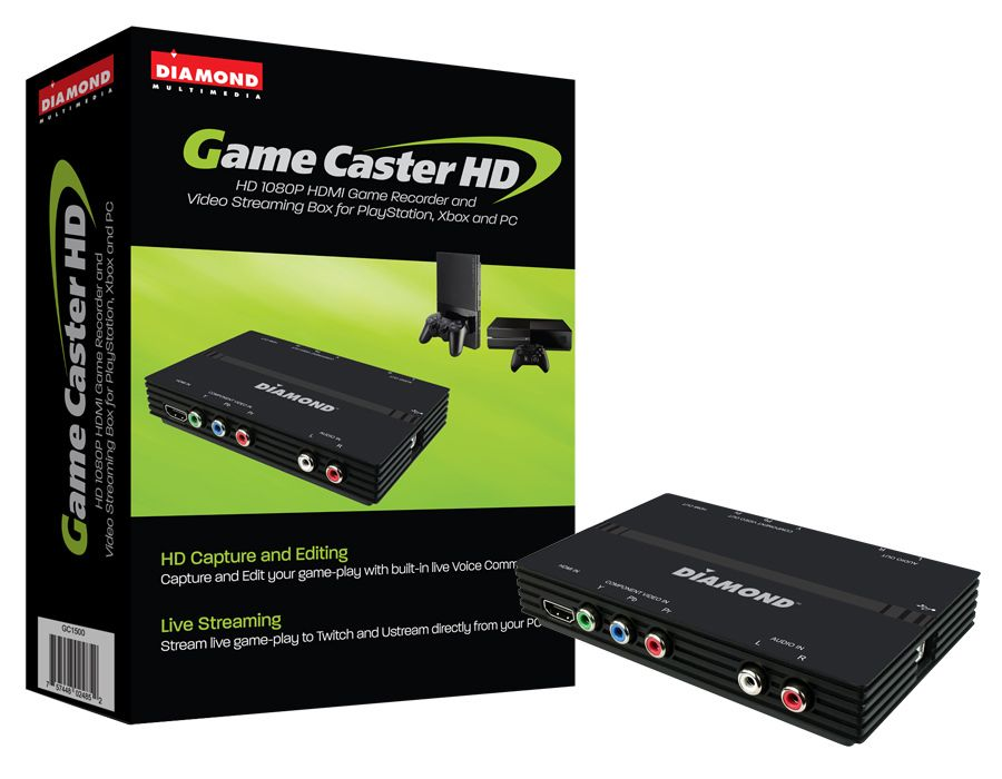 Diamond GC1500 HD Video Capture/Game Box Recorder for