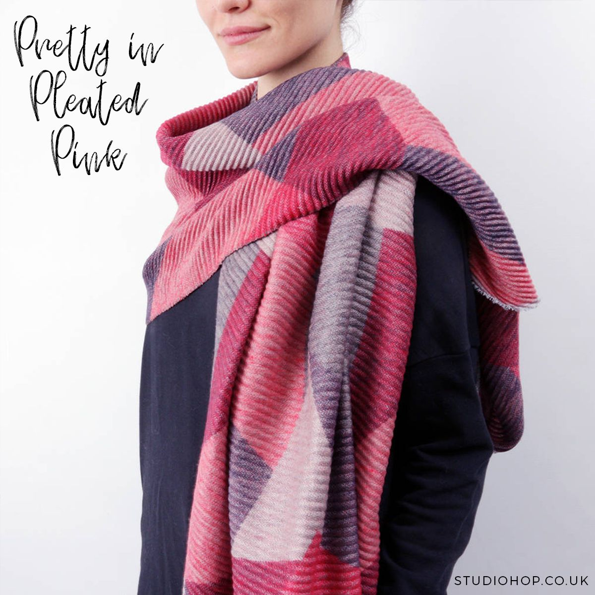 Why not wrap yourself or a loved one in our new pretty in pleated why not wrap yourself or a loved one in our new pretty in pleated pink scarf adding a dash of much needed colour as the chilly weather rolls in you can solutioingenieria Images