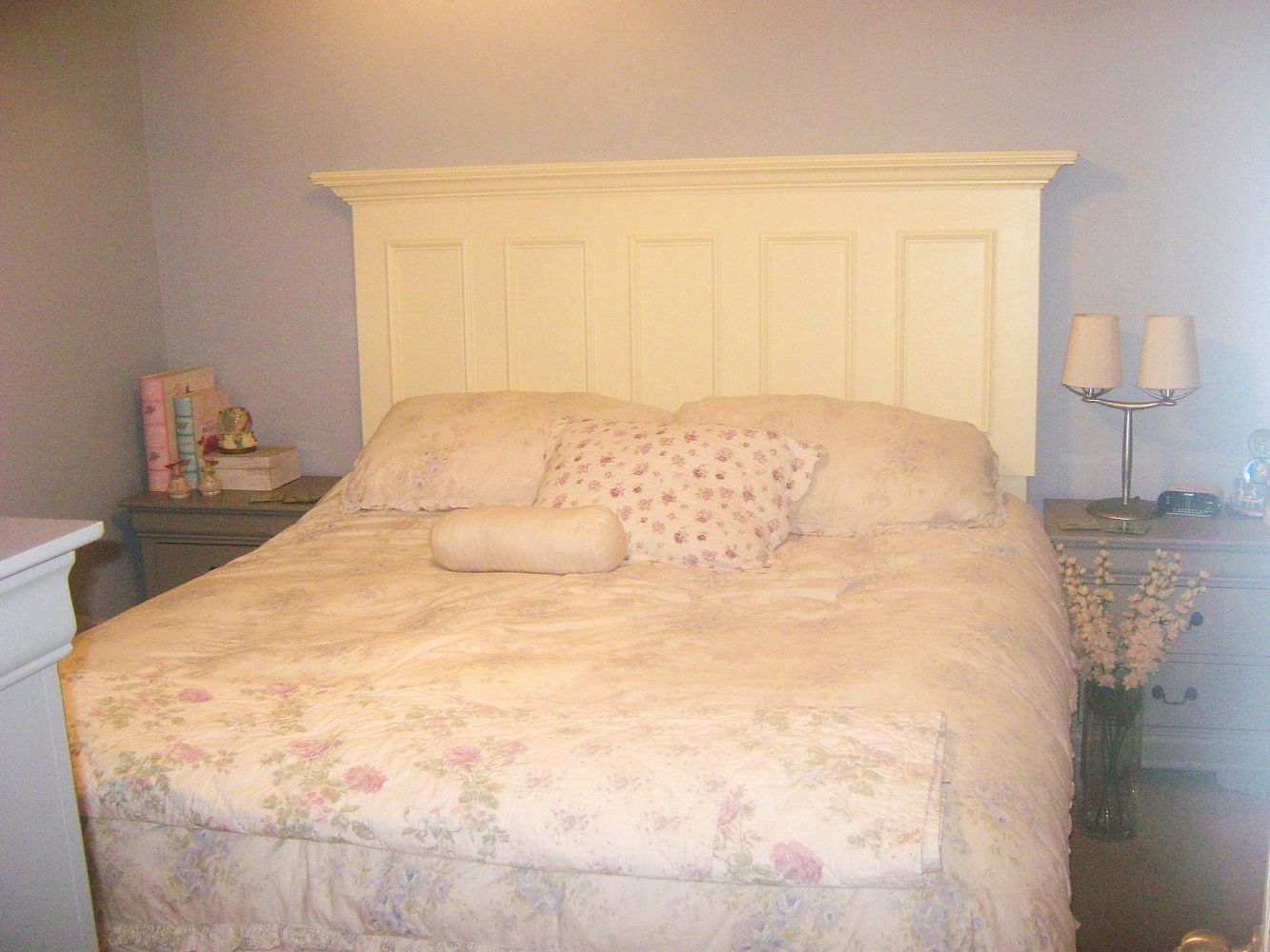 king size headboard made from an old door, doors, home decor ...