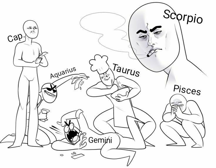 Zodiac Signs The Signs In Draw Your Squad Memes Drawing Meme Zodiac Signs Funny Zodiac Signs