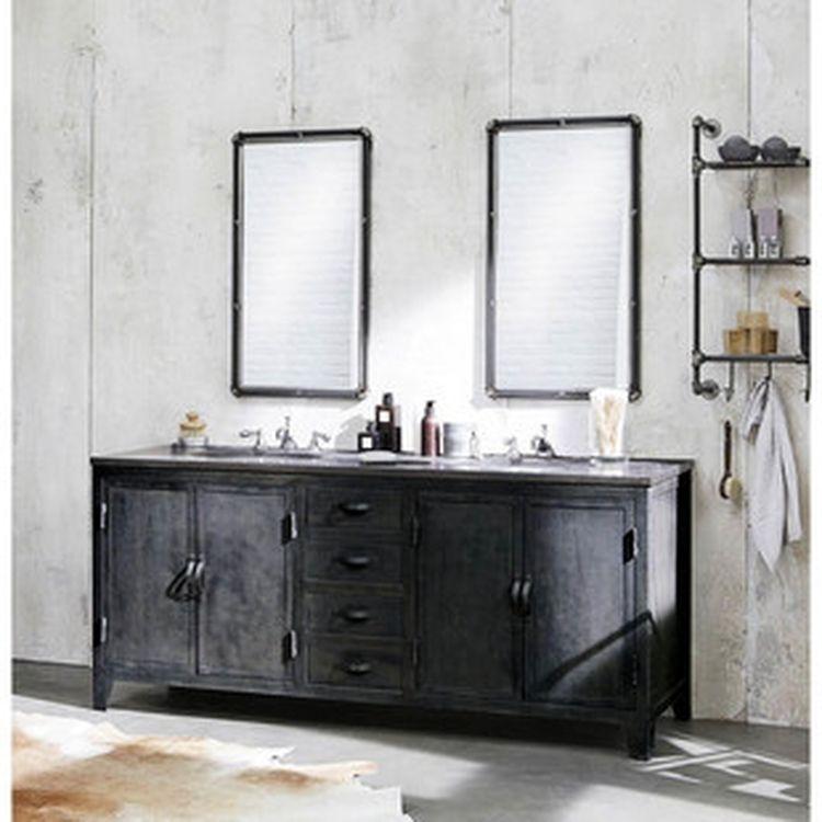 Mueble de cuarto de baño de estilo industrial gris 1 | #BAÑOS ...